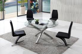 Round Glass Table And Chairs Round Glass Dining Table Interior Design