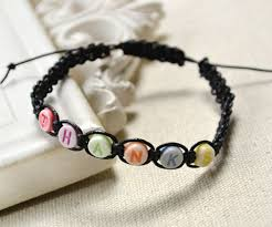 thread bead bracelet images To make a simple friendship bracelet with letters beads jpg