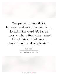 one prayer routine that is balanced and easy to remember is