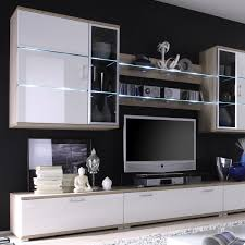 Wohnzimmerschrank Ahorn Moderner Wohnzimmerschrank Mit Glastüren Und Led Beleuchtung