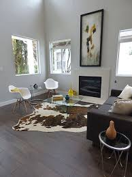 Faux Cowhide Area Rug Faux Cowhide Rug Living Room Contemporary With Area Rug Black