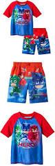 swimwear 147339 pj masks boys swim trunks rash guard