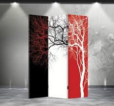 Tri Fold Room Divider Screens Folding Room Dividers Sided Tri Color Tree Divider Tri Fold