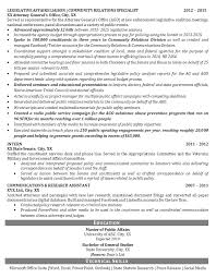 Pr Resume Samples by Public Relations Resume Example Political Legislative Specialist
