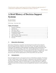a brief history of decision support systems pdf download available