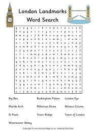 london landmarks word search diy u0026 crafts pinterest london