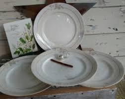 Shabby Chic Dinner Set by Broken Plate Art Etsy