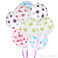 polka dot balloons 12 inch clear transparent polka dots balloons birthday party