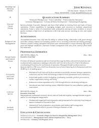 Achievements Resume Examples by Effective Chef Resume Template And Qualifications Summary And