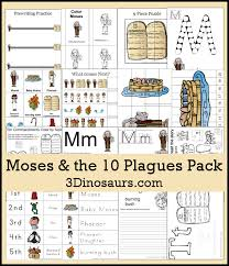 free moses u0026 the ten plagues pack 3 dinosaurs