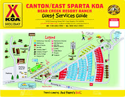 Sparta On Map Facility Map Bear Creek Ranch Koa
