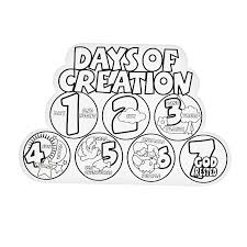 best 7 days of creation coloring pages ideas new printable