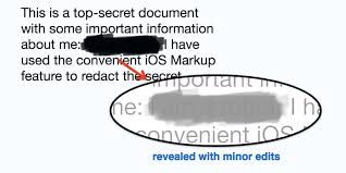 psa si e social psa ios markup is not designed to be a redaction tool for sensitive