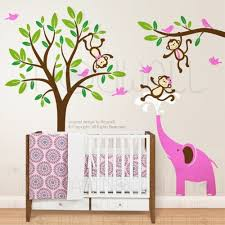 Elephant Wall Decals For Nursery by 33 Monkey Wall Decals For Nursery Monkey And Giraffe Jungle Wall