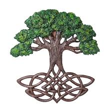 celtic tree of wall plaque