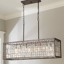 Chandelier Island Crystal And Metal Cage Island Chandelier Shades Of Light