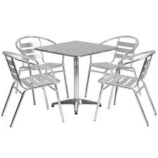 stainless steel table and chairs stainless outdoor table set 27 5 square restaurant table sets