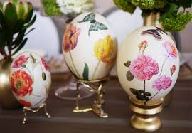 Decorating Easter Eggs Decoupage by