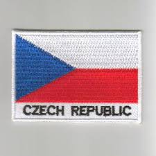 Chez Republic Flag Republic Embroidered Patches Country Flag Czech Republic Patches