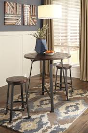 3 piece round counter table set by signature design by ashley