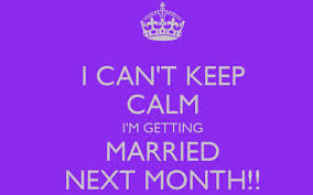 wedding quotes keep calm how to plan a wedding within a month