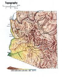 Arizona On Map Landscape Map Arizona
