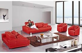 Red Sofa Sets by Orion Leather Reclining Sofa Set