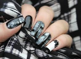 classic black u0026 white dried brush nail tutorial youtube nail