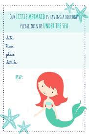 8 images free printable mermaid invitation template
