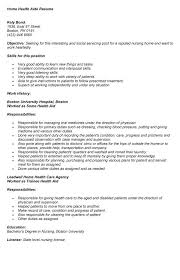 Resume Examples For Nursing Assistant by Home Health Aide Resume Sample Jennywashere Com