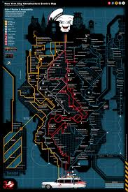 Nyc Subway Map Poster by The Nyc U0027ghostbusters U0027 Service Map Transforms The Subway System