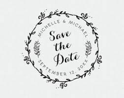 Save The Date Stamp Let Love Grow Stamp Wedding Favor Thank You Stamp Self