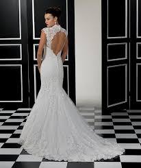 lace open back mermaid wedding dress naf dresses