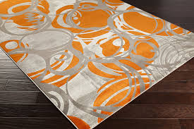 Orange Modern Rug Surya Jax Jax 5000 Machine Made Modern Area Rug 5