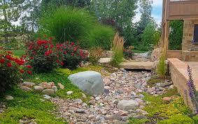 landscape ideas create dry riverbed landscape ideas bistrodre porch and landscape
