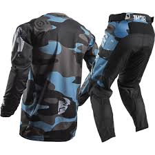 mx motocross gear thor 2018 mx new pulse covert jersey pants midnight blue camo