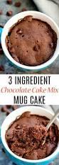3 ingredient chocolate cake mix mug cake kirbie u0027s cravings