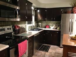 glass tile backsplash with dark cabinets backsplash ideas kitchen and glass tiles on pinterest remodel java