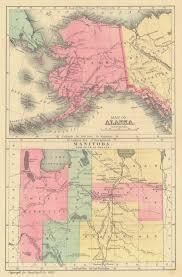 Alaska Topo Maps by Maps Antique United States Us States Alaska