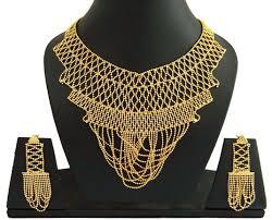 wedding gold set buy wedding wear jewellery set 18k gold plated necklace