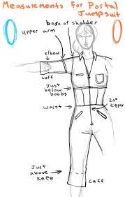 portal jumpsuit jumpsuit measurements by lambda2441 on deviantart