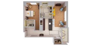 waldorf astoria orlando luxury resort near disney 3d floor plans 3d view of corner waldorf suite w balcony 1 king bed