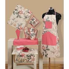Swayam White N Pink Floral Swayam Kitchen Linen Sets Buy Swayam Kitchen Linen Sets Online