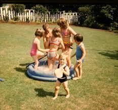 kids in backyard wading pool 1970 u0027s i wish it was so eas u2026 flickr