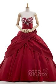wedding dress maroon princess gown wedding dresses cocomelody