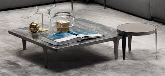 Waterfall Glass Coffee Table by Coffee Tables Natuzzi Italia