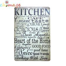 affiche deco cuisine cuisine vintage inscrivez tin bar pub café restaurant décoration