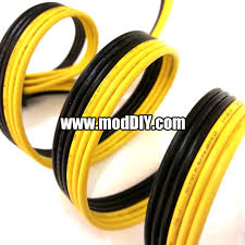 black and yellow ribbon corsair style 6 conductor flat ribbon cable wire 18awg black