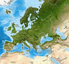 Map Of Europe With Countries Labeled by Europe Satellite Image Giclee Print Enhanced Physical