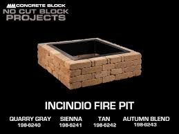 Square Fire Pit Kit by Incindio Fire Pit At Menards For The Home Pinterest Cut Block